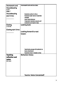 Explicit Teaching Lesson Plan