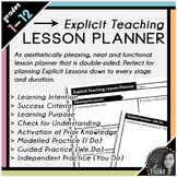 Explicit Teaching Lesson Planner