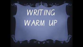 Explicit Teaching Writing Warm Up Term 1 Week 2 Year 1