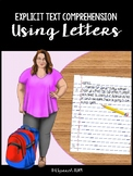 Explicit Text Comprehension Using Letters (#4 - Jared & Camille)