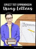 Explicit Text Comprehension Using Letters (#1 - Candace & Janaya)