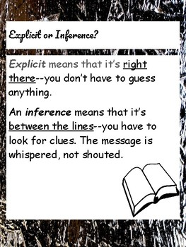 Explicit or Inference Anchor Charts