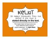 AURELIA'S TALE: Explicit vs. Implied Activity - Common Core RL 6.1