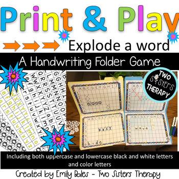 Explode A Word: A Handwriting Folder Game
