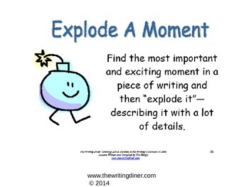 Explode a Moment from The Writing Diner