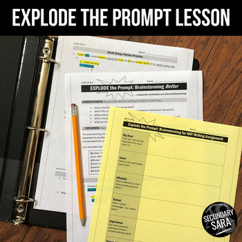 Prompt Analysis & Brainstorming Lesson