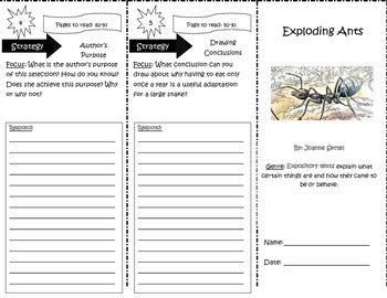 Exploding Ants Trifold Reading Street 5th Grade Unit 4 Week 3