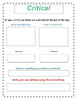 Exploding Ants Vocabulary Packet