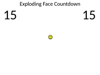 Exploding Face Countdown Timer