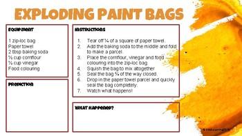 Exploding Paint Bags Science Experiment Lesson