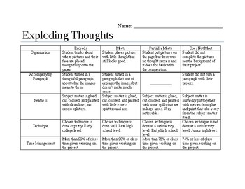 Exploding Thoughts- Get to know your students