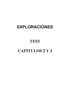 Exploraciones - 2nd Edition - TEST de capítulos 2 y 3