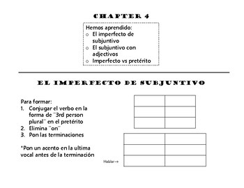 Exploraciones Chapter 4 Review (with Answer Key!)