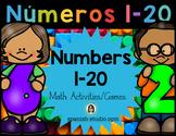 Números 1-20/ Numbers 1-20