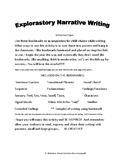 Explorastory Narrative Writing Bookmarks