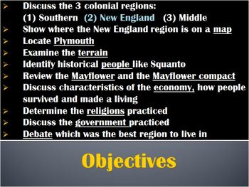 13 Colonies-PowerPoint:Exploration NEW ENGLAND colonies:economy,governm,religion