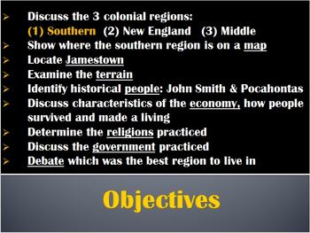 13 Colonies-PowerPoint:Exploration SOUTHERN Colonies:economy,government,religion