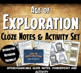 Exploration Cloze Notes, PowerPoint and Activity Set - Explorer Tombstones!
