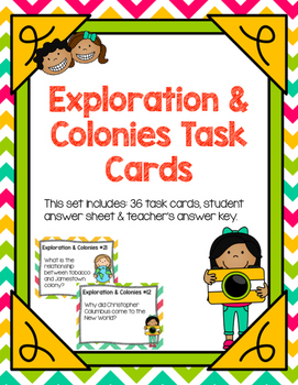 Exploration & Colonies Task Cards
