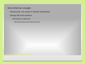 Exploration & Colonization PowerPoint