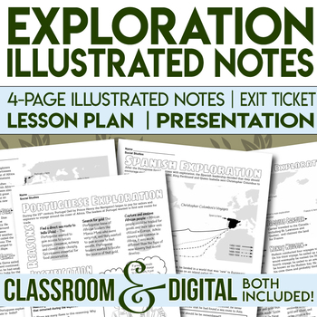 Exploration Doodle Notes Spanish and Portuguese Exploration