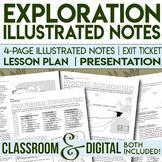 Exploration Doodle Notes Spanish and Portuguese Exploration