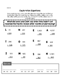Exploration Equations - Adding and Subtracting - Lewis and