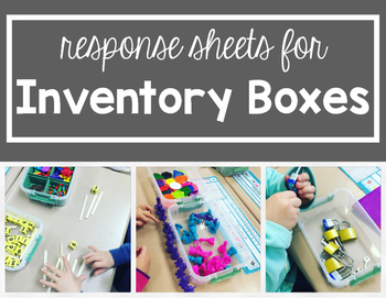Exploration Inventory Box Freebie Response Pages