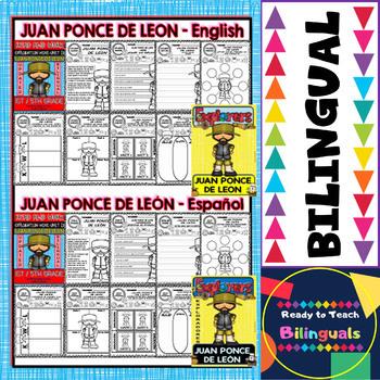 Exploration Mini-Unit 10 - Juan Ponce de Leon - Read and Work - Bilingual