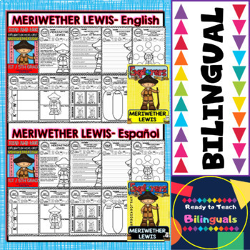 Exploration Mini-Unit 11 - Meriwether Lewis - Read and Work - Bilingual