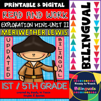 Exploration Mini-Unit 11 - Meriwether Lewis - Read and Wor