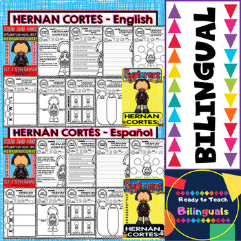 Exploration Mini-Unit 7 - Hernan Cortes - Read and Work - Bilingual