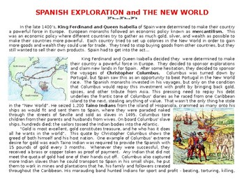 Exploration: Spain and Columbus