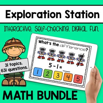 Exploration Station - Interactive Digital Math Games [GROWING BUNDLE]