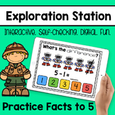 Exploration Station - Practice Facts to 5