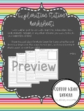 Exploration Station Worksheets and Photobox Covers
