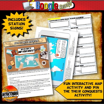 Age of Exploration Stations Activity with Graphic Organizer & Foldable Option