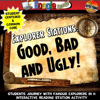 Exploration Stations Activity with Graphic Organizer & Fol
