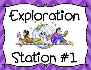 Exploration Stations Poster Set