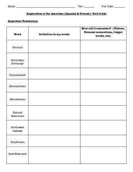 Exploration Student Activity Guide or Review