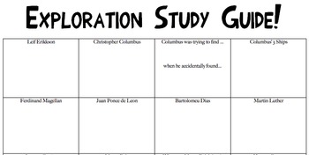Exploration Study Guide