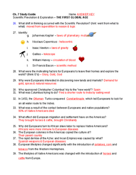 Exploration Study Guide WHII.4