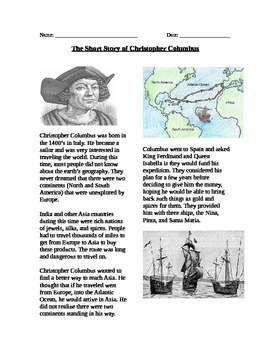 Exploration: The Short Story of Christopher Columbus and the Columbian Exchange