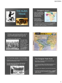 Exploration - The Slave Trade - Powerpoint and Interactive Notebook Sheets