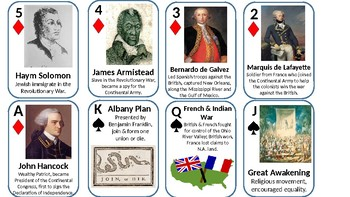 Exploration and American Revolutionary War Review Card Game