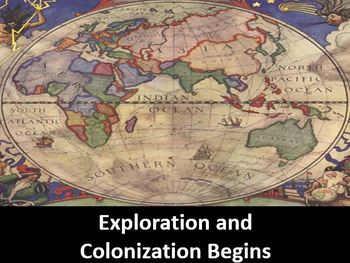 Exploration and Colonization Begins Power Point, Printable Notes, & Worksheet