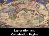Exploration and Colonization Begins Power Point, Printable