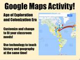 Exploration & Colonization Google Maps Activity
