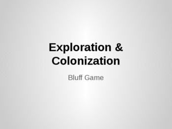 Exploration and Colonization Review Game