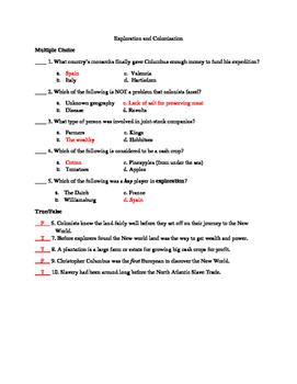 Exploration and Colonization Test